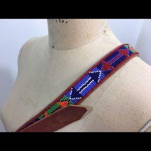 Accessories - Vintage Beaded Leather Belt